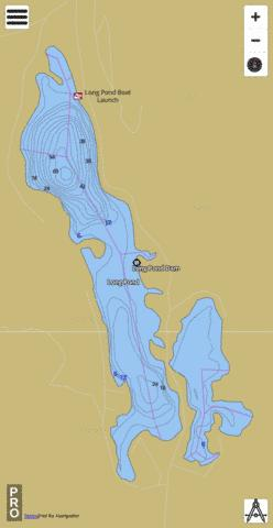 Long Pond Fishing Map - i-Boating App