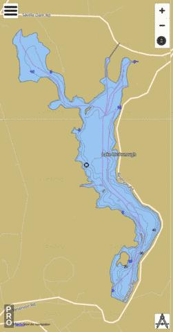 McDonough Lake Fishing Map - i-Boating App