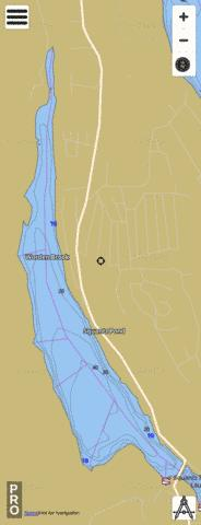Squantz Pond Fishing Map - i-Boating App