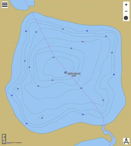 Middle Kimball Lake Fishing Map - i-Boating App