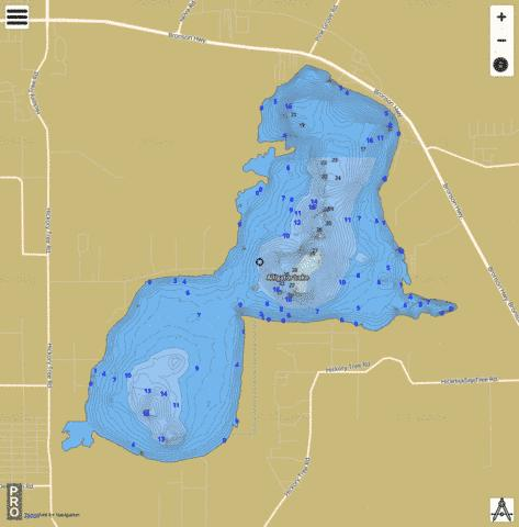 ALLIGATOR LAKE Fishing Map - i-Boating App