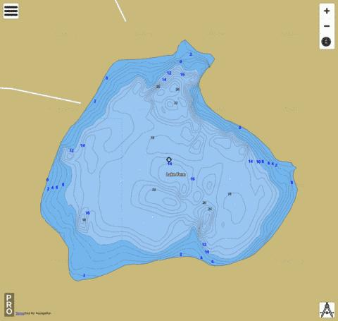LAKE FERN Fishing Map - i-Boating App
