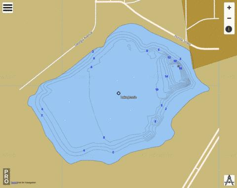 LAKE JENNIE Fishing Map - i-Boating App