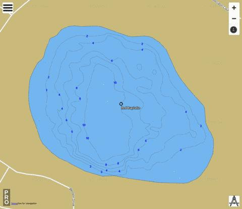 RED BUG LAKE Fishing Map - i-Boating App