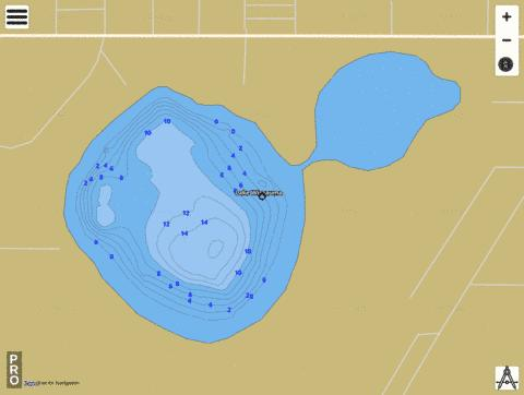LAKE WIMAUMA Fishing Map - i-Boating App
