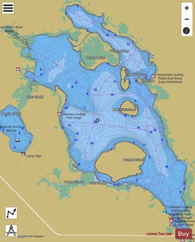 Lake kissimmee fishing map us fl 00295796 nautical for Fishing lake maps