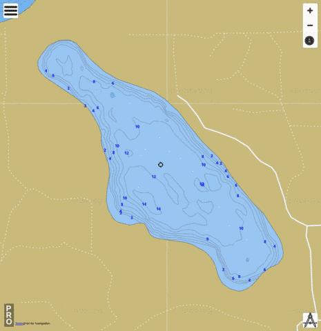 Horseshoe South Lake Fishing Map - i-Boating App