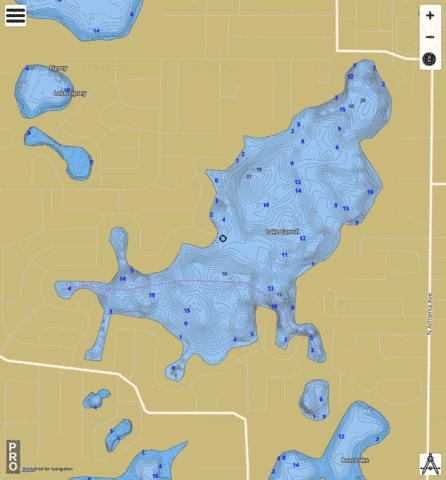 Carroll, Lake Fishing Map - i-Boating App