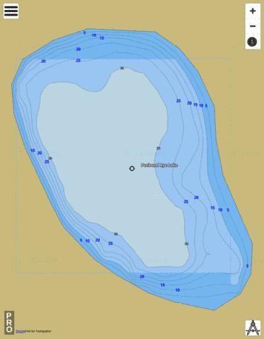 Peck And Rye Lake Fishing Map - i-Boating App