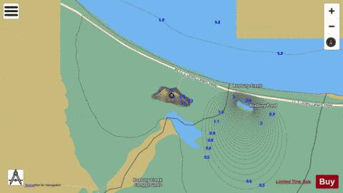 Roxbury Pond, West Fishing Map - i-Boating App