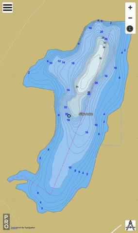 Sitka Lake Fishing Map - i-Boating App