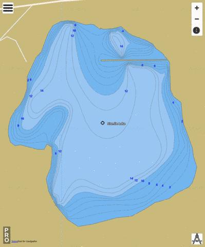 Sixmile Lake Fishing Map - i-Boating App