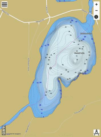 Second Fortune Lake Fishing Map - i-Boating App