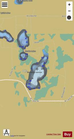 Sauble Lake #1 Fishing Map - i-Boating App