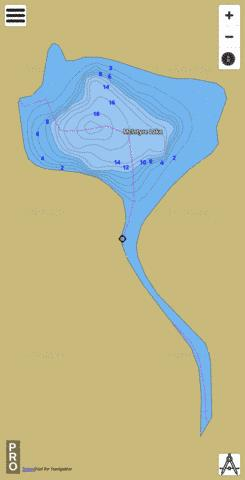 McIntyre Lake Fishing Map - i-Boating App