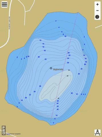 Hughes Lake Fishing Map - i-Boating App