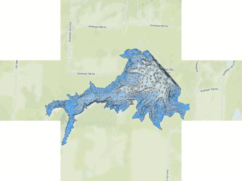 Holden City Lake Fishing Map - i-Boating App