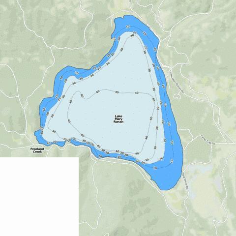 Lake Mary Ronan Fishing Map Us Mt 00786905 Nautical