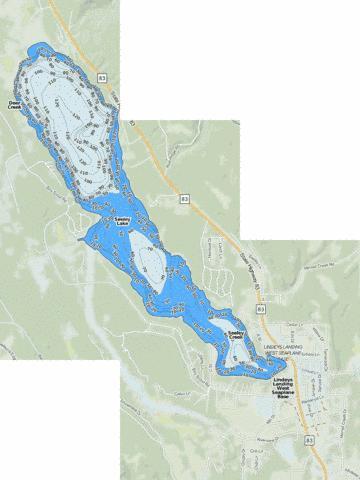 Seeley Lake (Fishing Map : US_MT_00790196) | Nautical Charts App