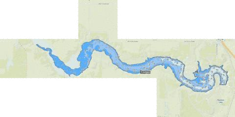Pipestem Reservoir Fishing Map - i-Boating App