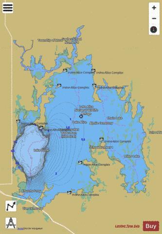 Irvine Lake Map Irvine, Lake (Fishing Map : US_ND_551) | Nautical Charts App