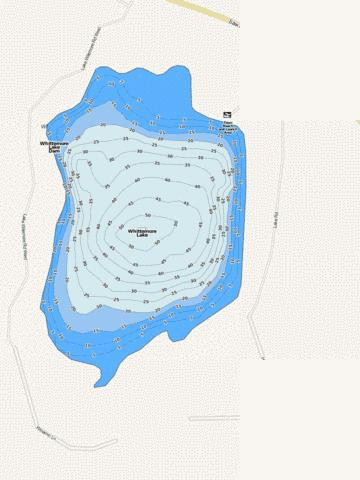 Whittemore Lake Fishing Map - i-Boating App