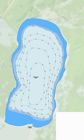 Meacham Lake Fishing Map - i-Boating App