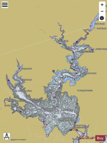 Lake Jocassee Map Lake Jocassee (Fishing Map : US_SC_01230532) | Nautical Charts App Lake Jocassee Map