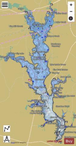 Lake Palestine Map Palestine (Fishing Map : US_TX_palestine) | Nautical Charts App