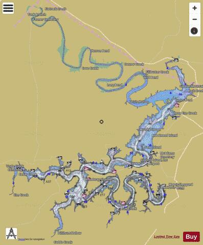 PossumKingdom Fishing Map - i-Boating App