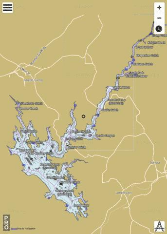 New Melones Lake Fishing Map - i-Boating App