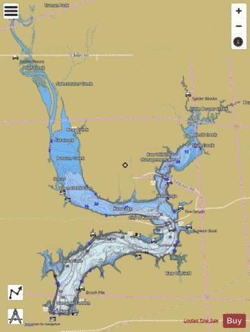 Kaw Lake Map Kaw Lake (Fishing Map : US_UB_OK_01754455) | Nautical Charts App