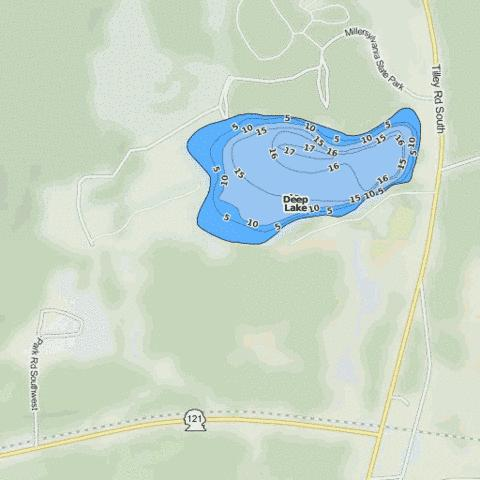 Deep Lake Fishing Map - i-Boating App