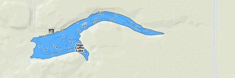 Stan Coffin Lake Fishing Map - i-Boating App