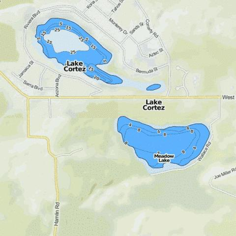 Meadow Lake Fishing Map - i-Boating App