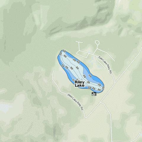 Riley Lake Fishing Map - i-Boating App