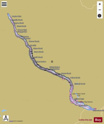 Lake Chelan Map Lake Chelan (Fishing Map : US_WA_01530367) | Nautical Charts App