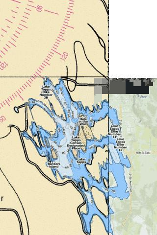 Lake Tapps Fishing Map - i-Boating App