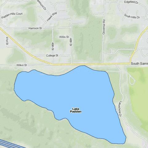 Lake Padden Fishing Map - i-Boating App