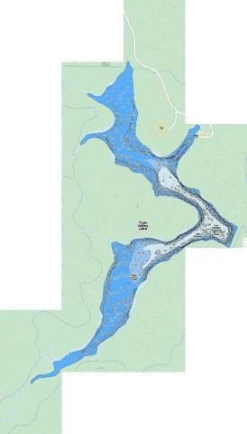 Twin Valley Lake Fishing Map - i-Boating App