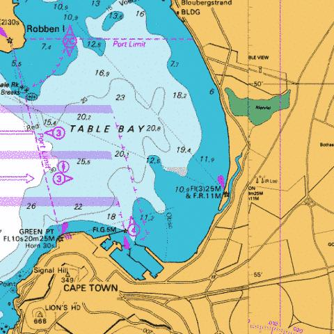 Table Bay Marine Chart - Nautical Charts App