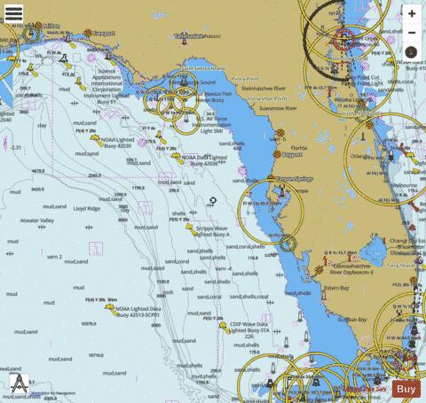 Florida Fishing Maps Marine Chart - Nautical Charts App
