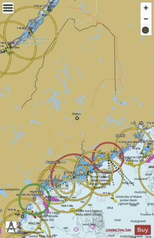 Maine Fishing Maps Marine Chart - Nautical Charts App